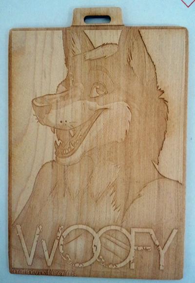 Woofy Wooden Badge