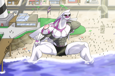 Anthro palkia in beach