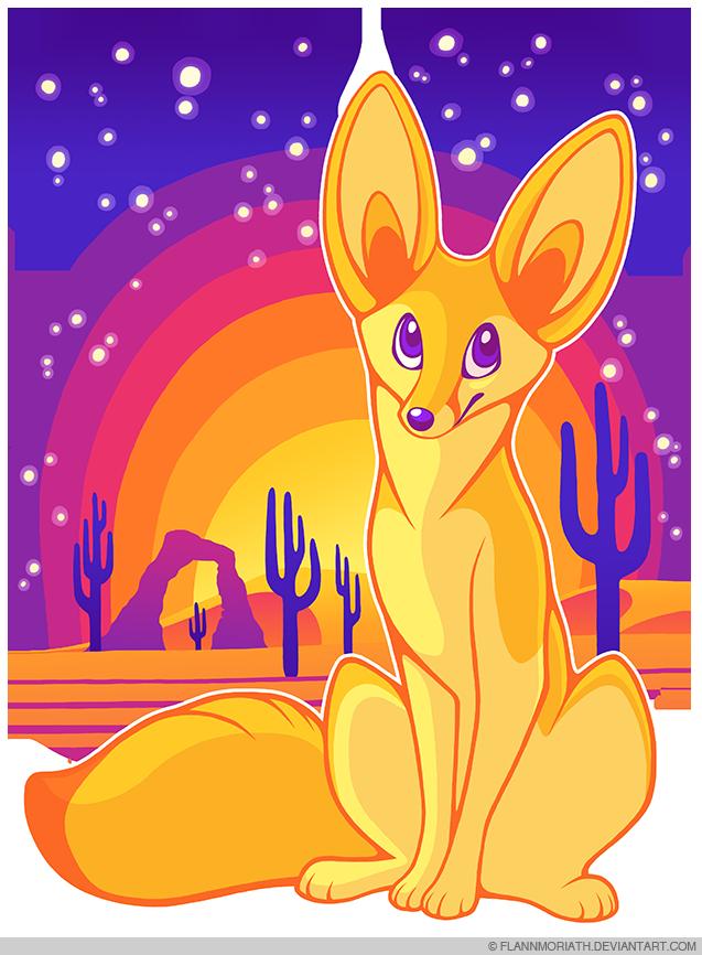 Fennec Fox in the Desert