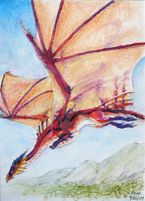 Flying Red - ACEO