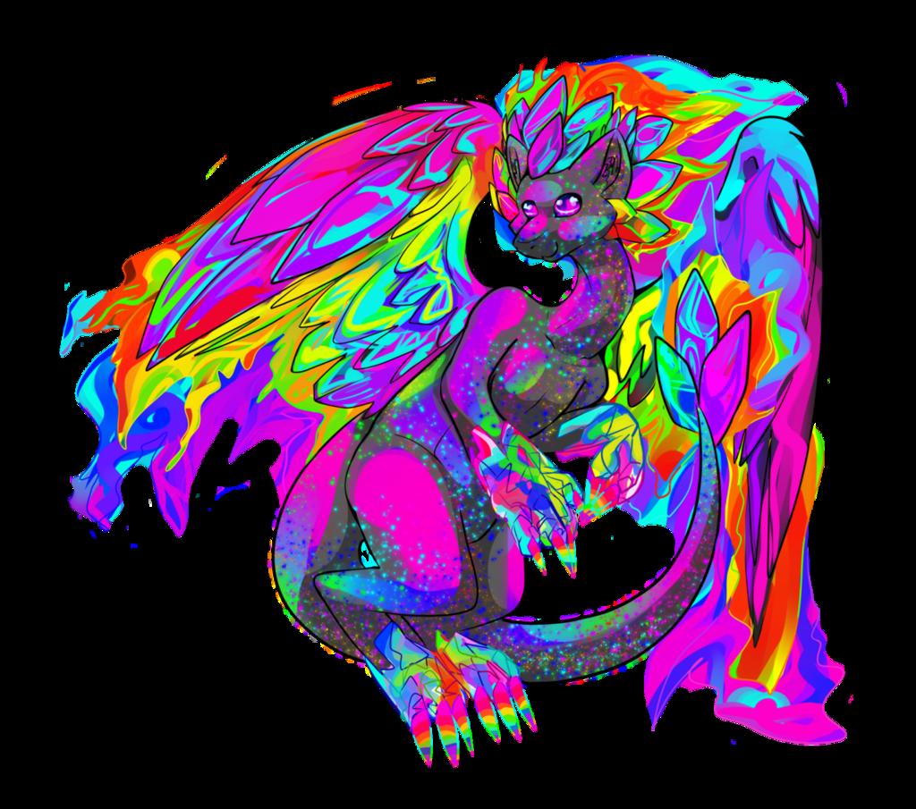 Rainbow Crystal Fire Dragon