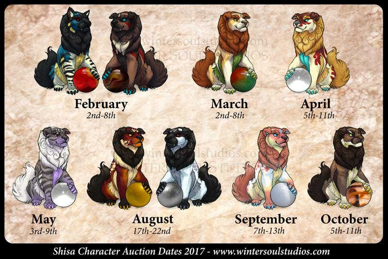 Shisa Adoptable Schedule 2017