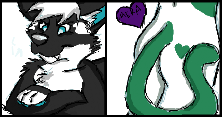 Most recent image: iScribble ft. Kandu and Mera's butt