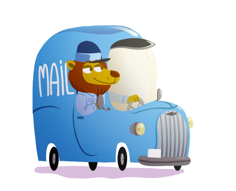 Mail lion