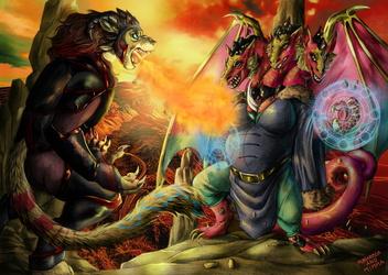 Commission - Magic battle