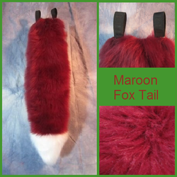 Maroon Fox Tail with White Tip