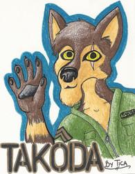 Trade: badge for Takoda