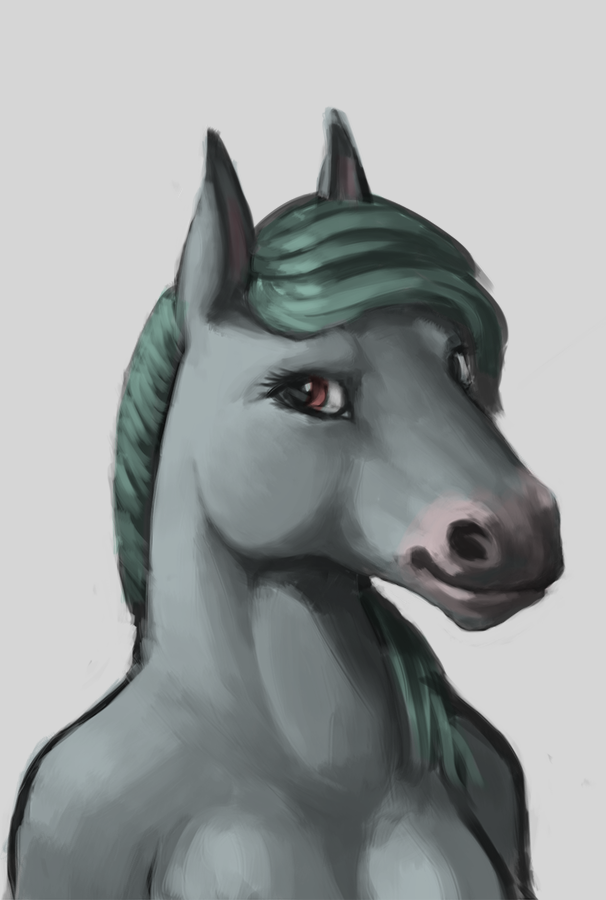 Most recent image: The horse Lady I