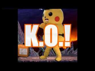 Super Pokken Smash Kombat: Ace Spade the Pikachu vs The Art Block (Mascot Fursuiting)