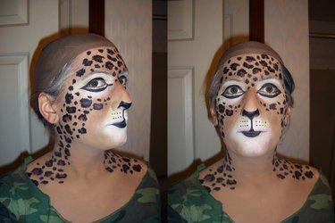 Snazaroo Leopard Makeup Practice