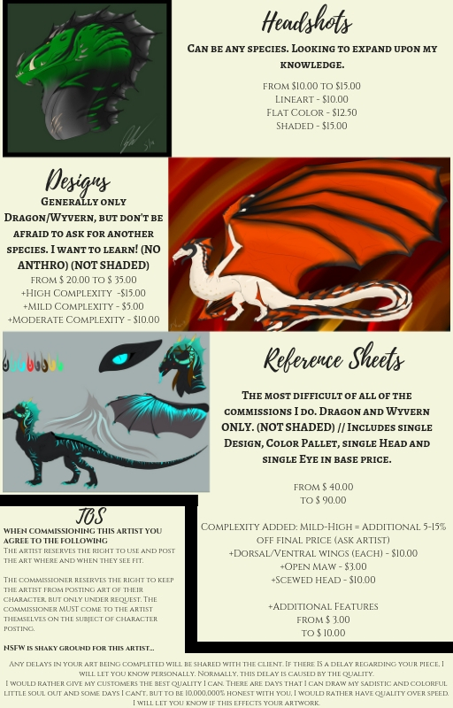 Commissions are OPEN (PRICE SHEET)