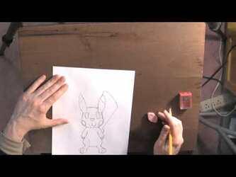 Pencil and Pen Art Sketch Tutorial Video - Ace Spade the Pikachu