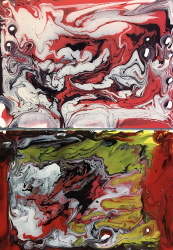 new material experiment--acrylic inks