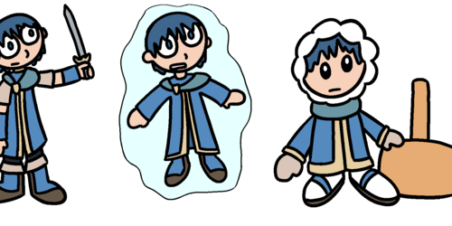 Fighter Morph - Marth to Ice Climber