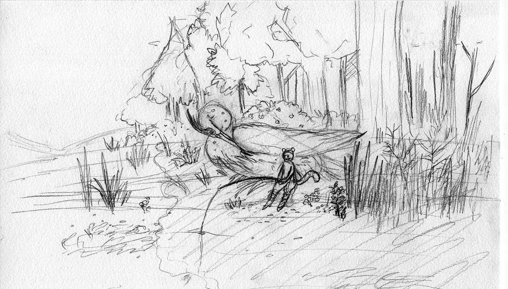 Heron Rider Fishing