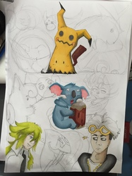 PokémonSheet [Commission / Wip & Alcohol Markers] - Final sketch