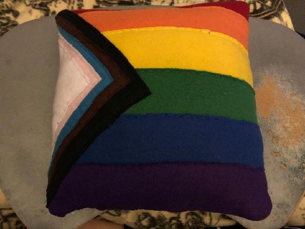 Progress LGBTQIA+ Pride Flag Throw Pillow For Sale
