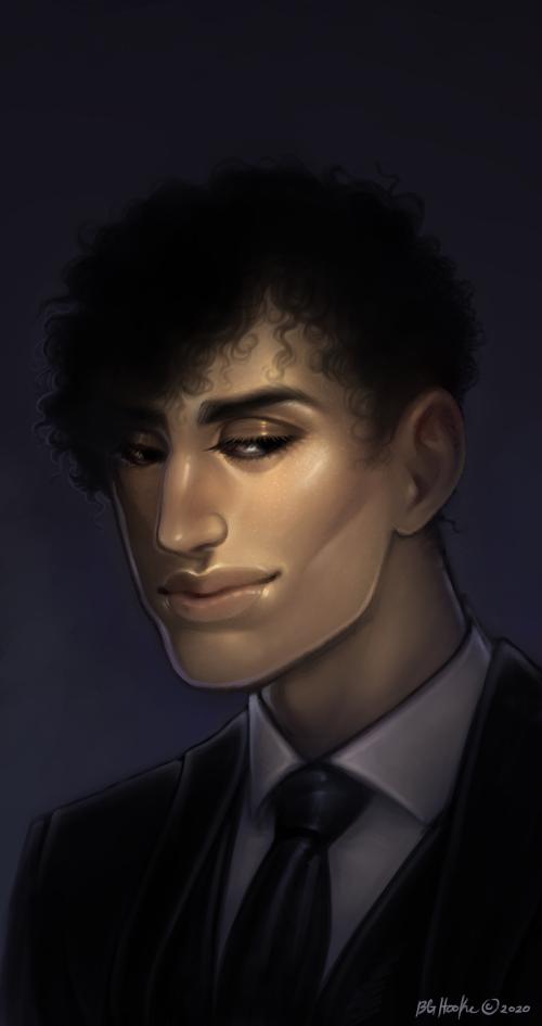 Bust, Painting: Haemon