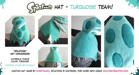 "Splatoon ""Boy"" Hat - Turquoise Team!"