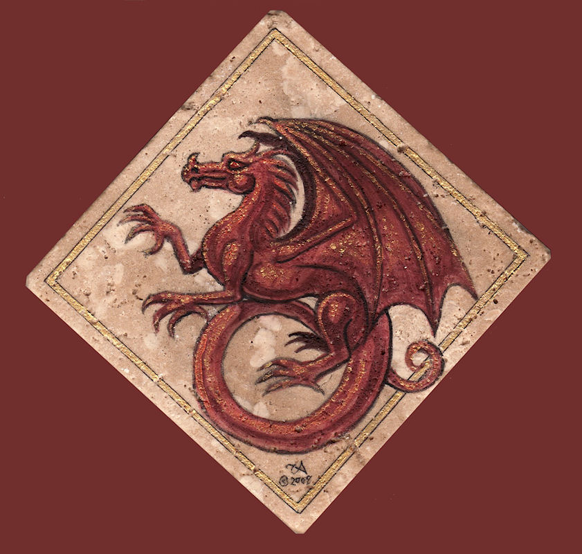 Red Dragon Tile : Red dragon tile — weasyl