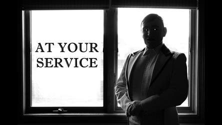 Mr. Numan is: AT YOUR SERVICE