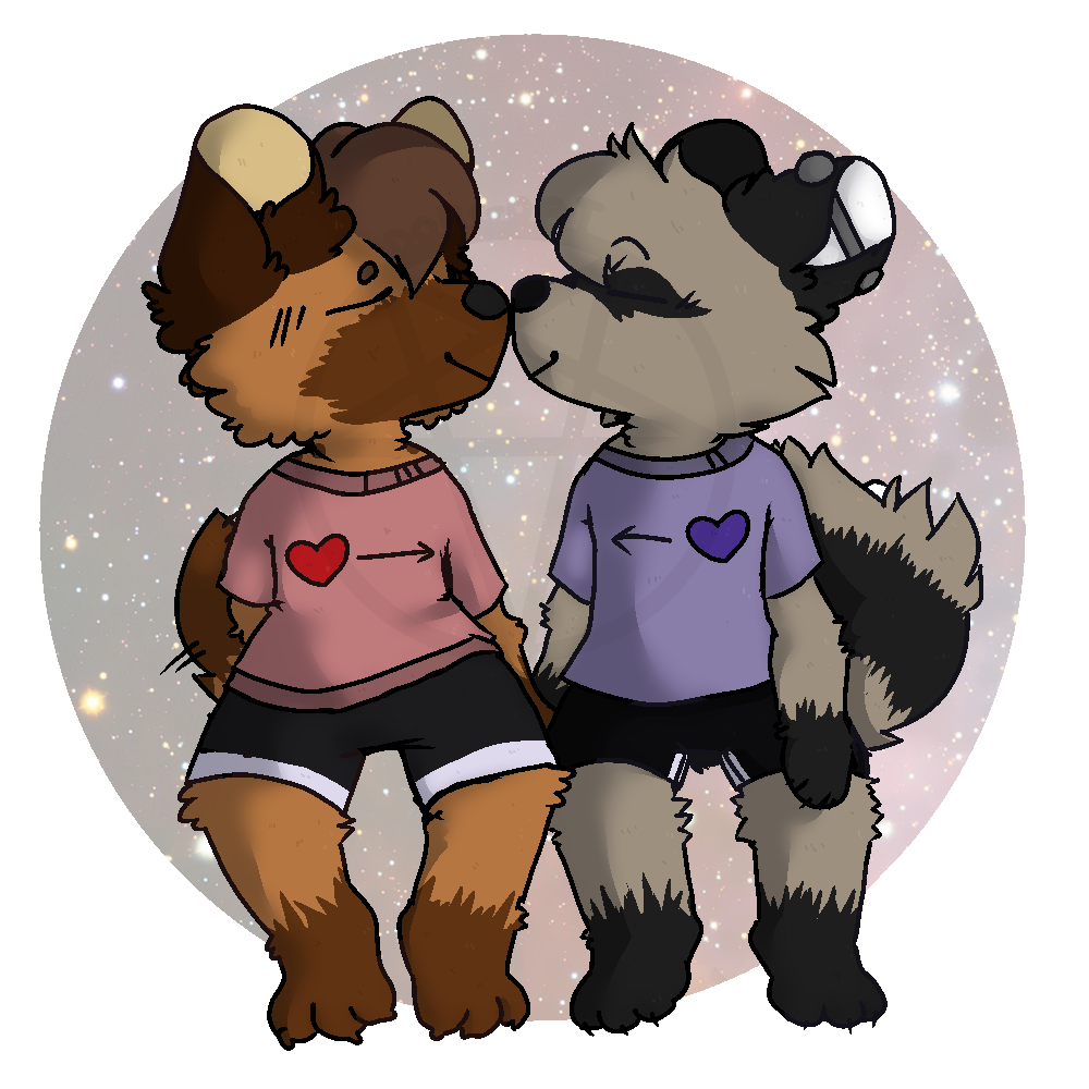 Nuzzles in Space (commission by Dorgoat)