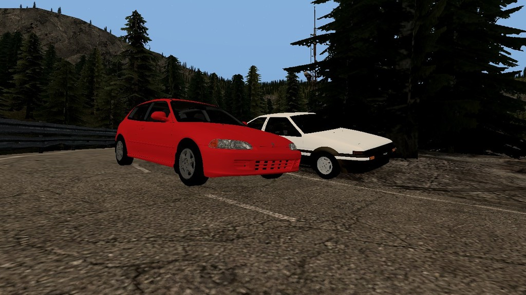 Most recent image: AE86 vs EG6