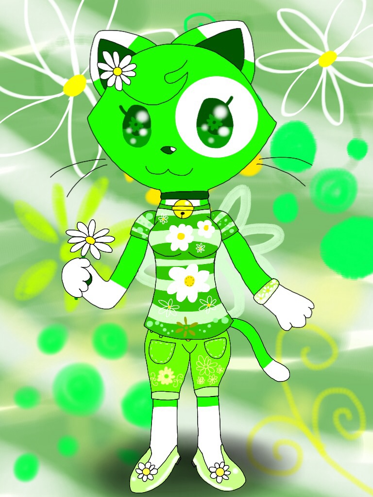 Anthro Emeraldia the Cat