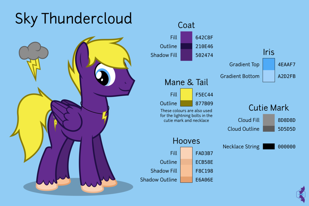 A Reference Sheet for Sky Thundercloud