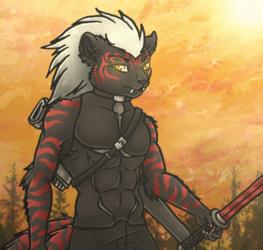 Commission - Sci-Fi Tiger Kistune