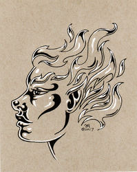 Silver Flame Face