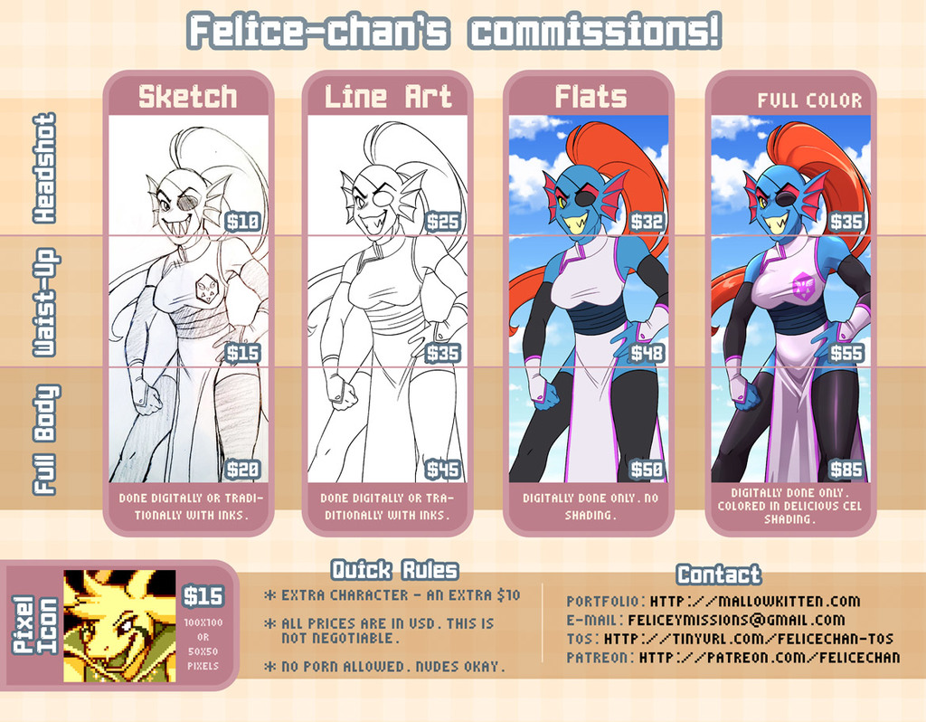 Commission prices 2017
