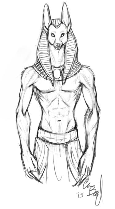Most recent image: Anubis sketch