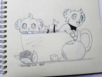 InkTober D. 08 - Tea Cup Shinx