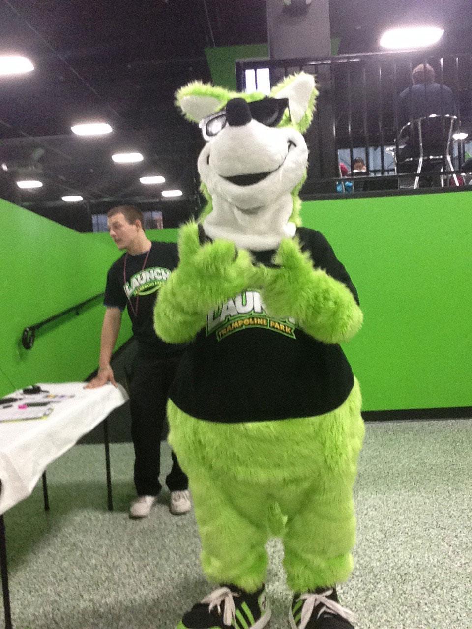 Joey the Kangaroo - Mascot for Launch Trampoline Park