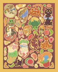 Cat Food Stickers: File