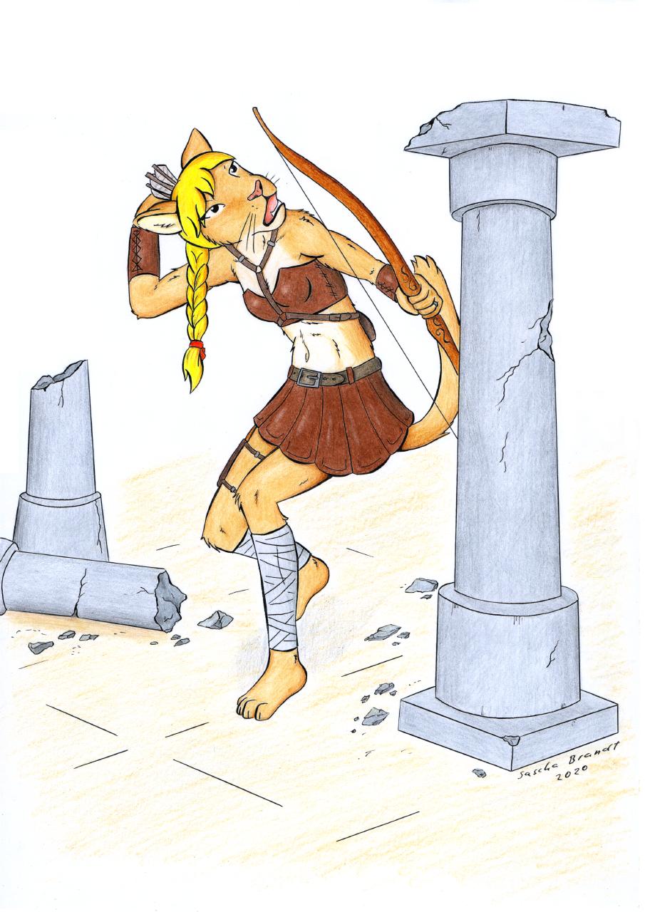 Archery-cat-girl