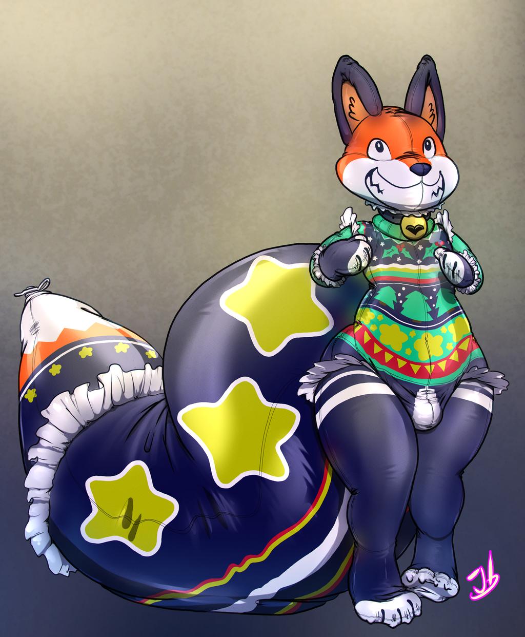 Making a Festive Fox 2