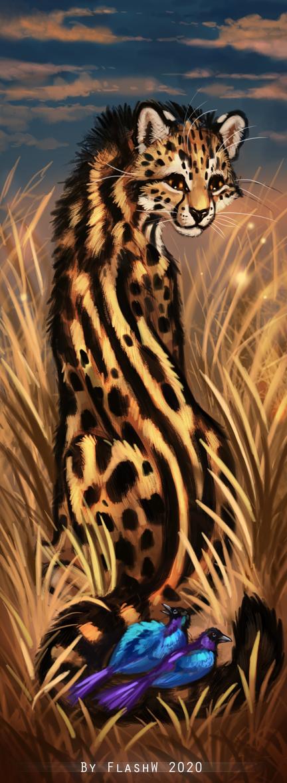 King cheetah bookmark