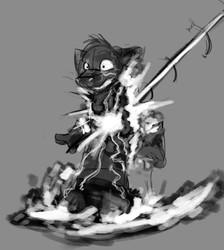 Sketch Commission - Kaedwuff - Slatepaw Disintegration