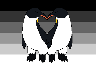 Straight ally flag with penguins