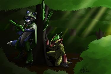 commission - AiraFox Treespass