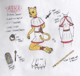 Asha the Lioness (Hand-Drawn Ref Sheet)