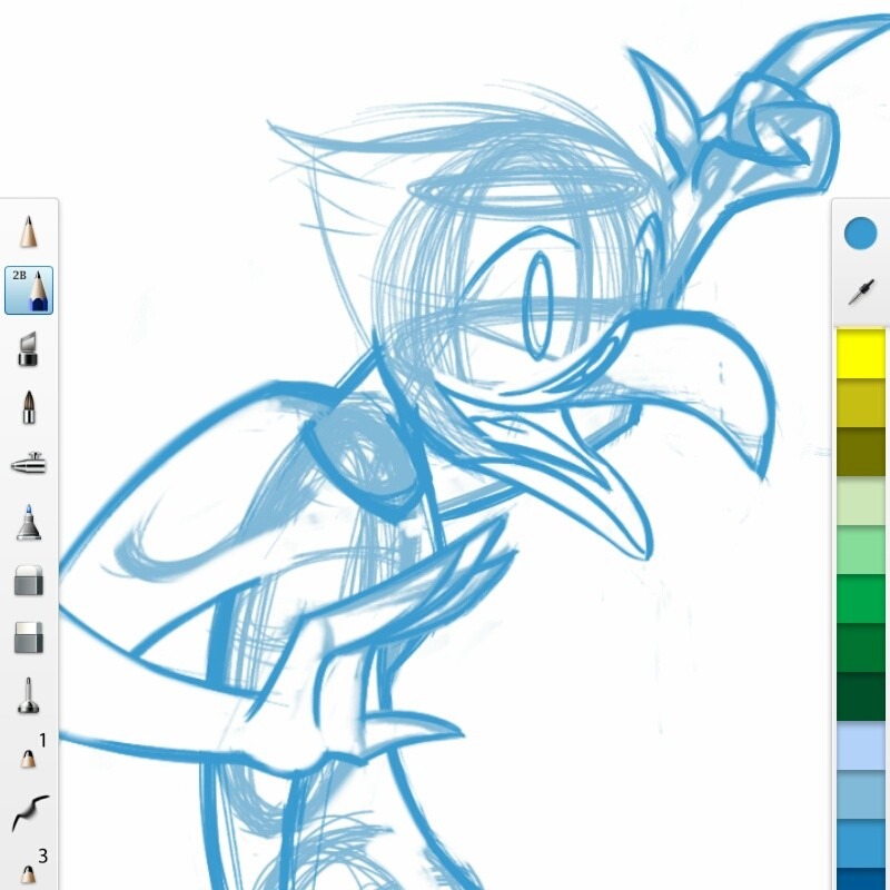 Bird Lady Monster Girl WiP