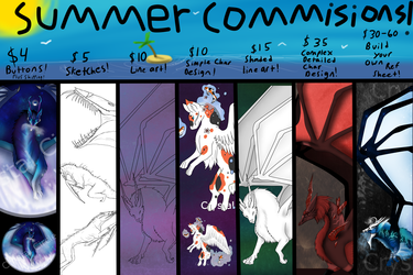 Summer Commissions! (OPEN)