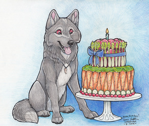 J-wolf Veggie cake Birthday
