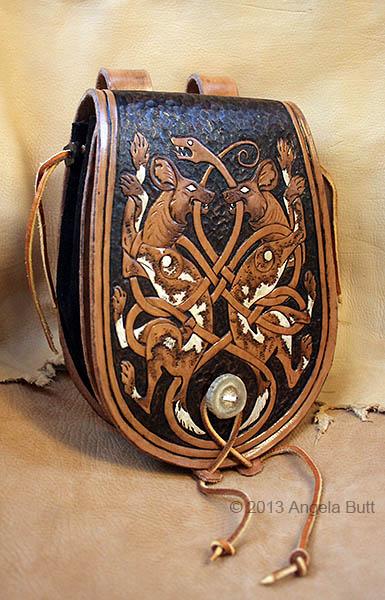 Celtic Painted Dog Bag