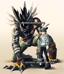 Commission: ShadowWeregarurumon and Yoruna