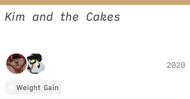 [2020] Kim and the Cakes