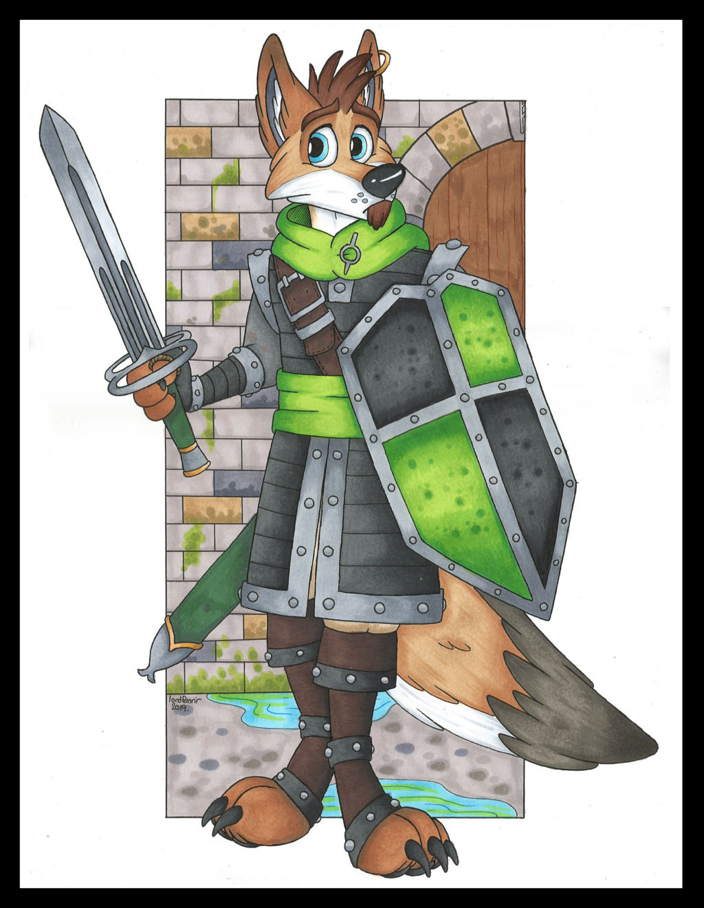 Most recent image: Sir Samuel, Coyote Paladin